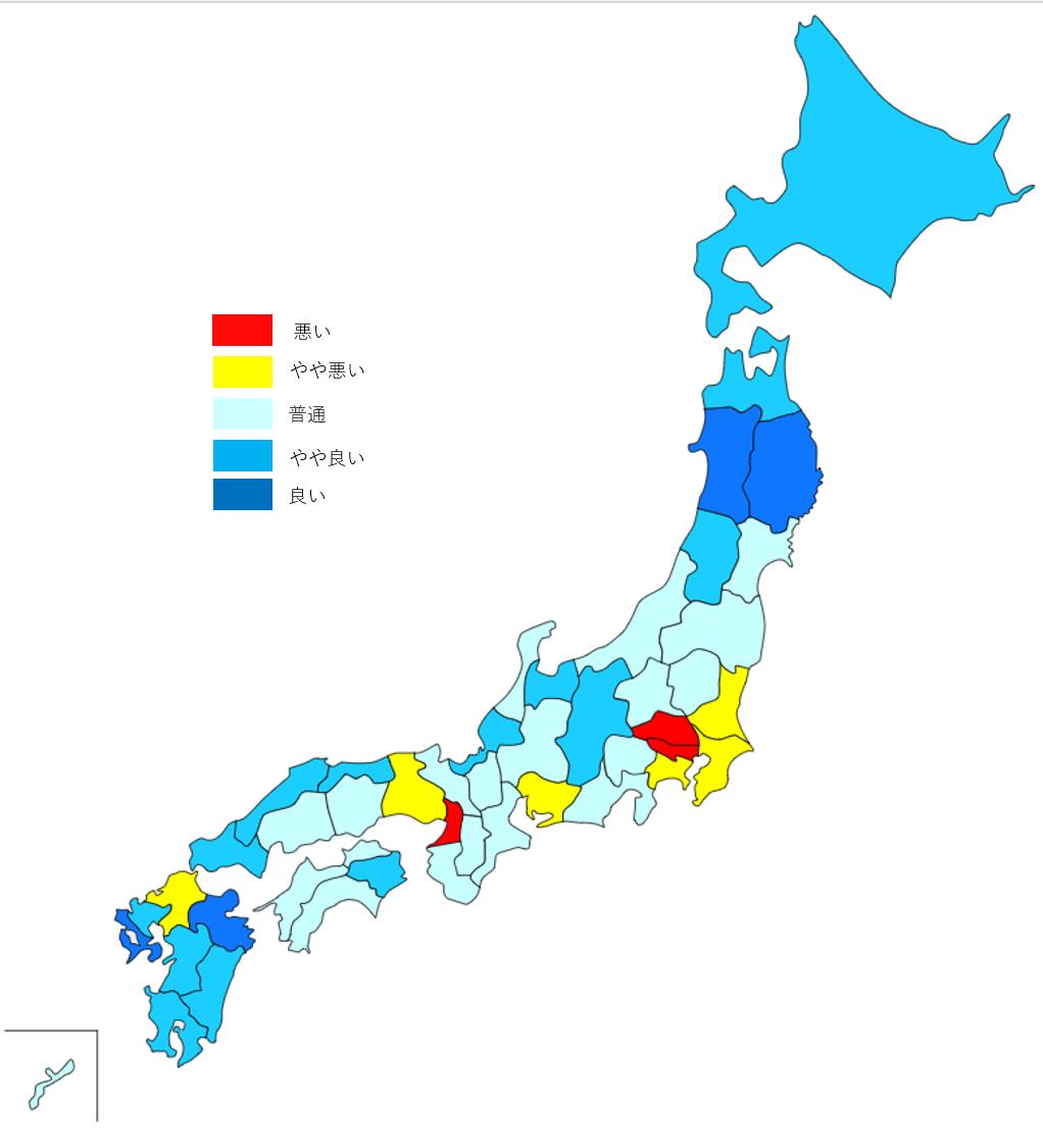 日本全国47都道府県の治安ランキングと治安マップ!!